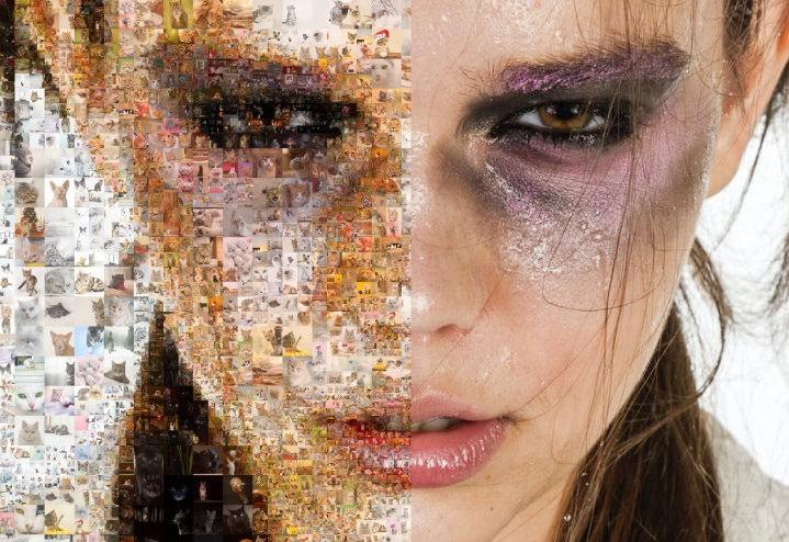 Photo mosaic graphics - multi-size tile photo mosaic - Mosaic Creator