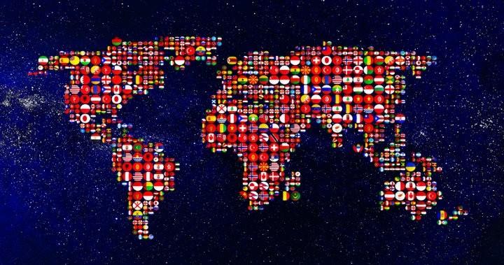 World map design graphics - Mosaic Creator