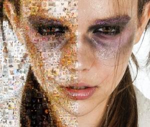 Photo mosaic color art