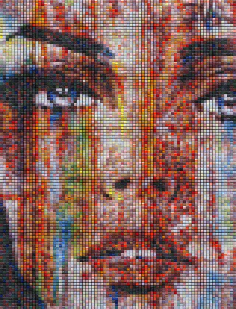 Mosaic Tile Design color woman art face - Mosaic Creator