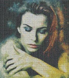Mosaic Tile Design woman graphics - Mosaic Creator
