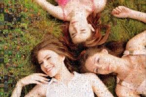 Photo mosaic of 3 sisters