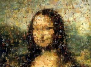 Mona Lisa Photo mosaic Ghost mosaic - Mosaic Creator
