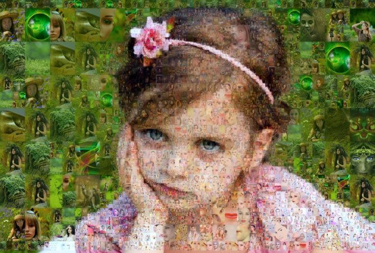 Photo mosaic software - Mosaic Creator - photo mosaic of the girl