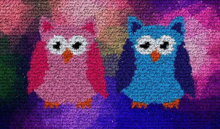 Color owl mosaic art - Mosaic Creator