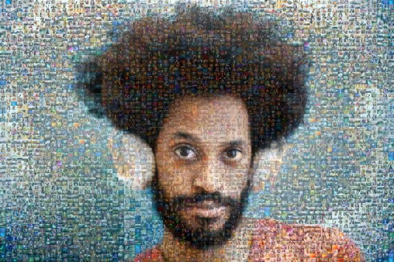Photo mosaic of hifi listener - Mosaic Creator - single cell size