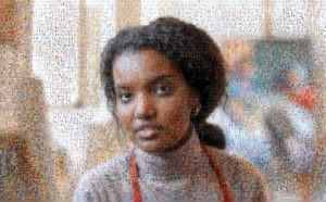 Photo mosaic of artist