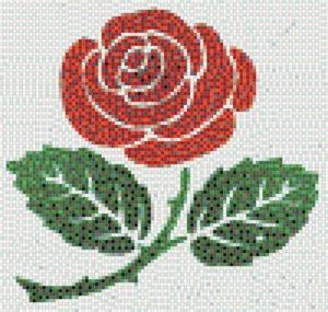 Rose tile mosaic design - Mosaic Creator