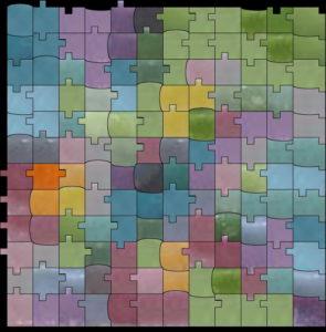 Tile mosaic pattern chaos - Mosaic Creator
