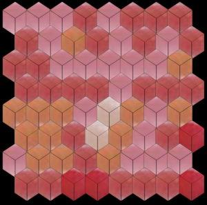 Tile mosaic pattern 3D cube - Mosaic Creator