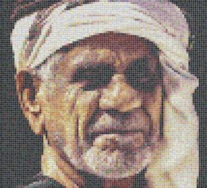 Memory of grandfather - tile mosaic design - Mosaic Creator