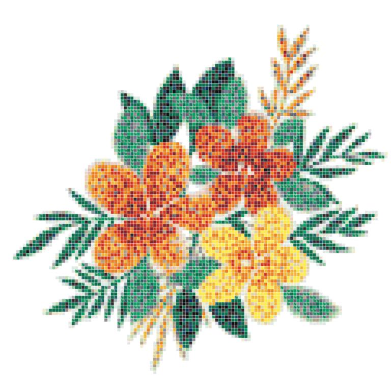 Flower tile mosaic