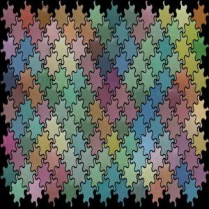 Tile mosaic pattern wave - Mosaic Creator